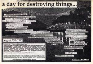 A Day For Destroying Things advert