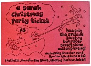 Sarah Christmas Party Ticket