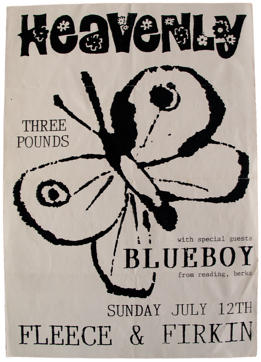 Heavenly & Blueboy at Fleece & Firkin, Bristol (poster)