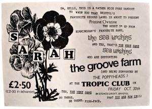 Sarah Records launch flyer