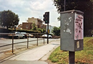 Flyposting for an Orchids/Brighter gig in Bristol