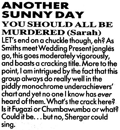Another Sunny Day You Should All Be Murdered review