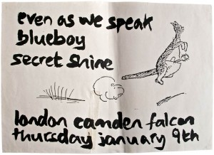 EAWS, Blueboy, Secret Shine @ Camden Falcon poster