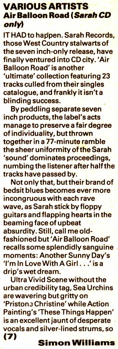 Air Balloon Road NME review