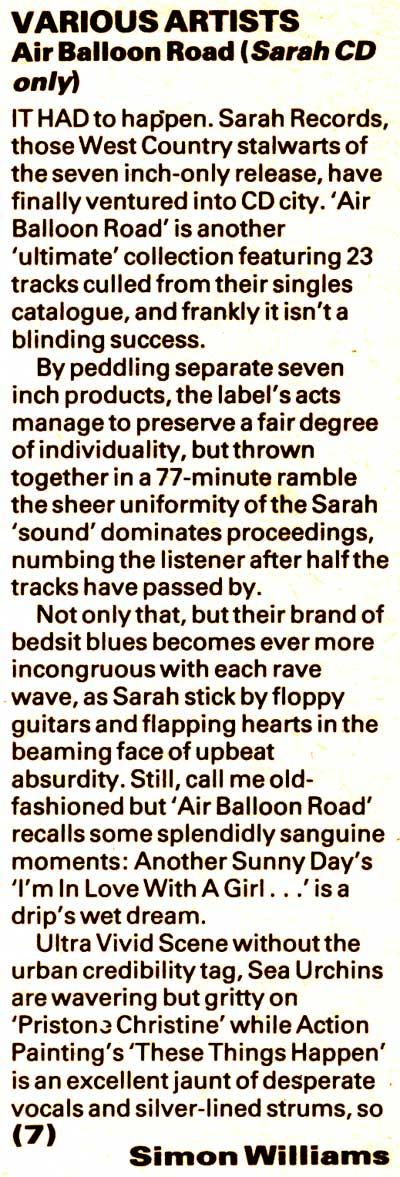 Air Balloon Road NME review
