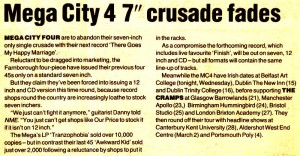 "Mega City 4 7"" Crusade"