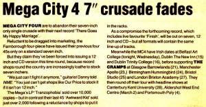 "Mega City 4 7"" Crusade"