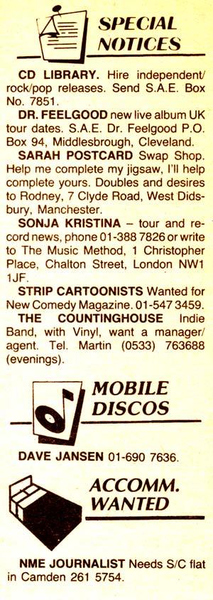 NME Special Notices